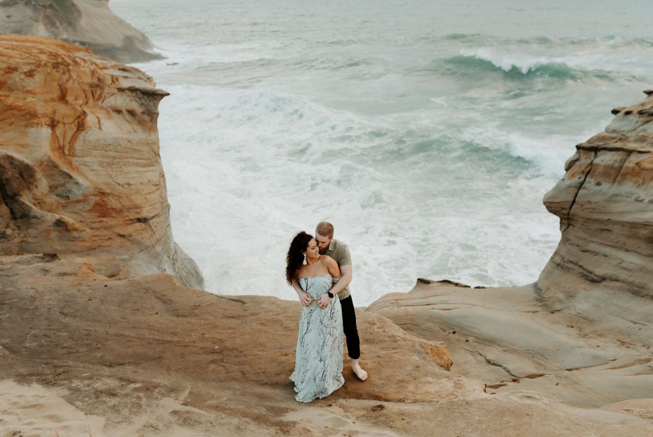 Cape Kiwanda Engagement Session Best Location In Oregon For Engagement Photos Portland Wedding Photographer Anais Possamai Photography 002