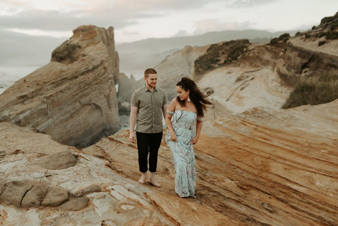Cape Kiwanda Engagement Session Best Location In Oregon For Engagement Photos Portland Wedding Photographer Anais Possamai Photography 017