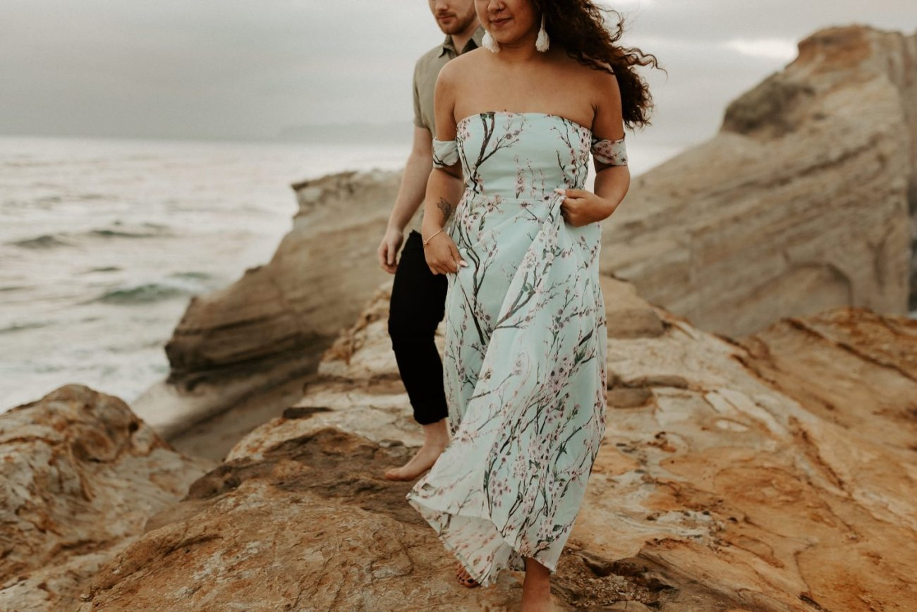 Cape Kiwanda Engagement Session Best Location In Oregon For Engagement Photos Portland Wedding Photographer Anais Possamai Photography 020