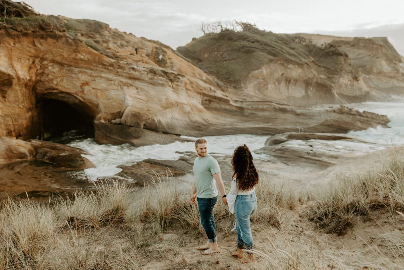 Cape Kiwanda Pacific City Oregon Couple Session Portland Wedding Photographer 018