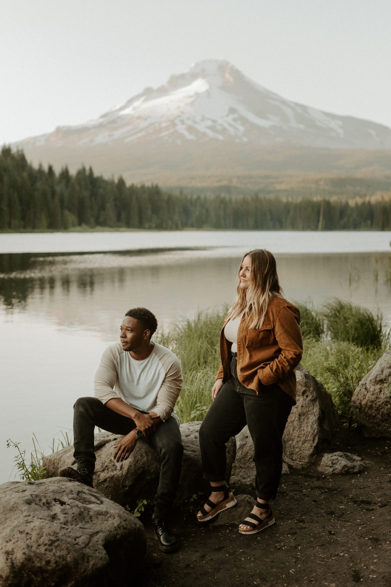 Trillium Lake Mount Hood Couple Session Engagement Session Portland Wedding Photographer Bend Elopement Photographer Anais Possamai Photography 026