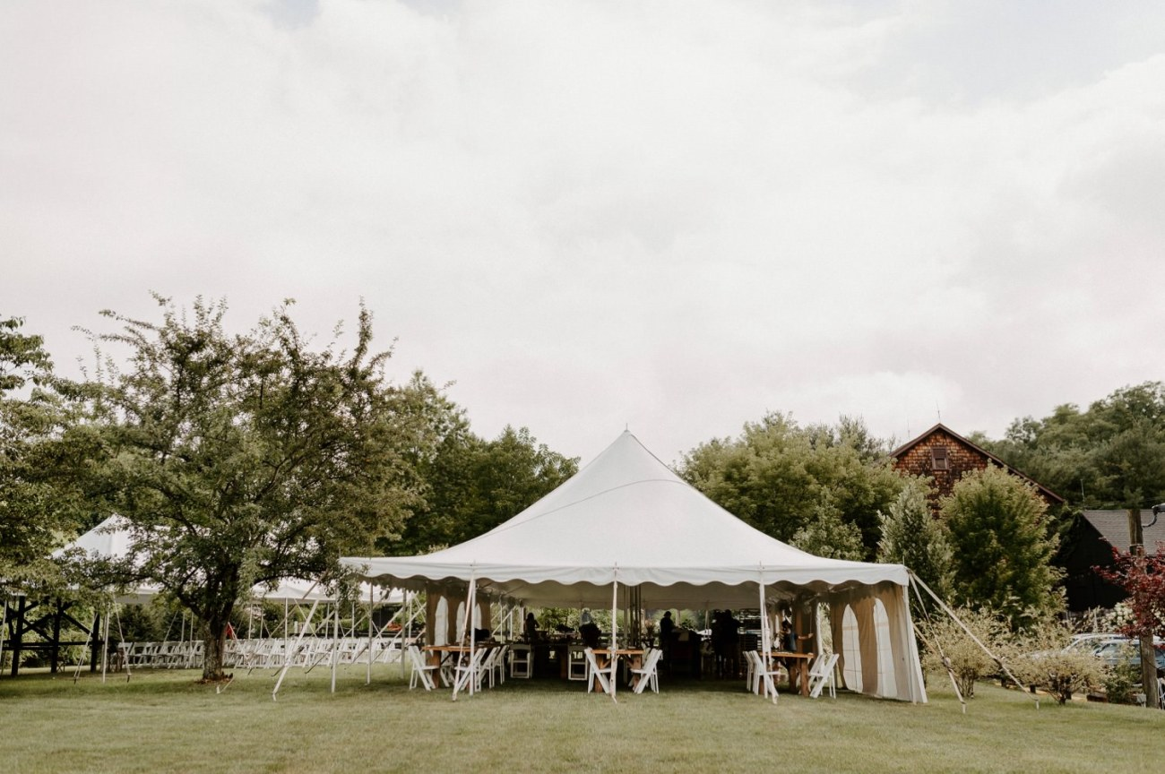 Outdoor Wedding reception tent at Jacks Barn Oxford New Jersey Wedding venue. New Jersey Wedding Photographer NJ Wedding Venue Rustic Barn Wedding Anais Possamai Photography 035