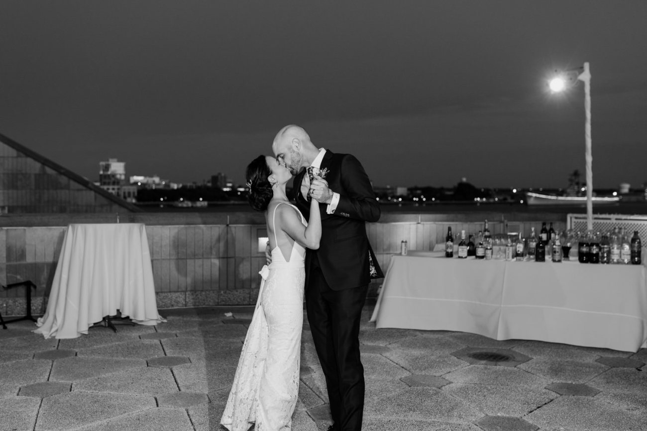 Bride and Groom first dance at the Independence Seaport Museum Philadelphia Wedding Venue