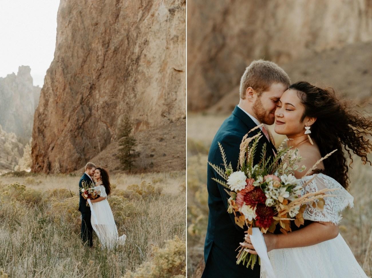 Smith Rock Elopement Bend Elopement Photographer Bend Wedding Photographer Fall Bend Wedding Anais Possamai Photography 003