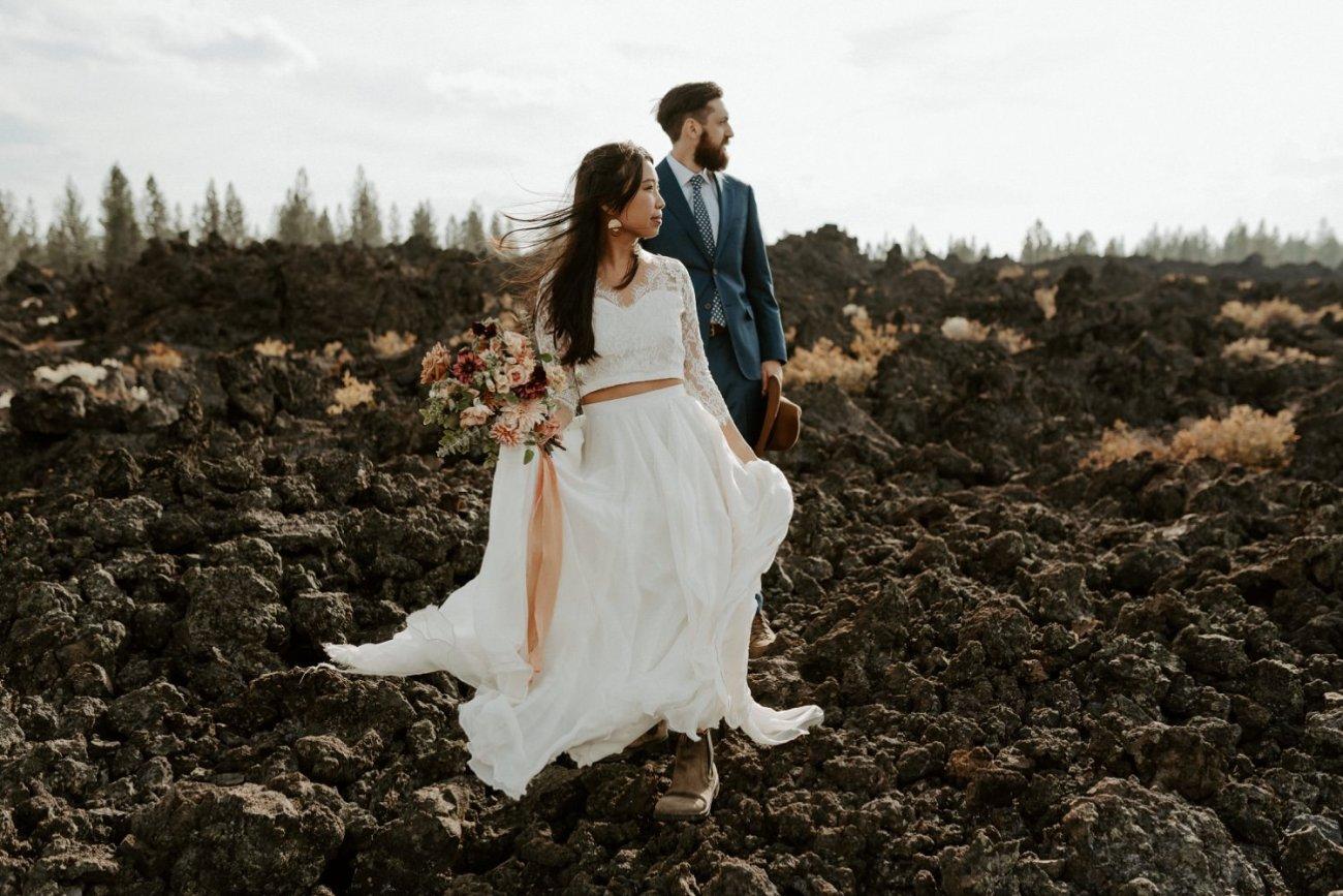 Newberry Volcano Elopement Bend Elopement Bridal Session Bend Wedding Photographer Anais Possamai Photography 008