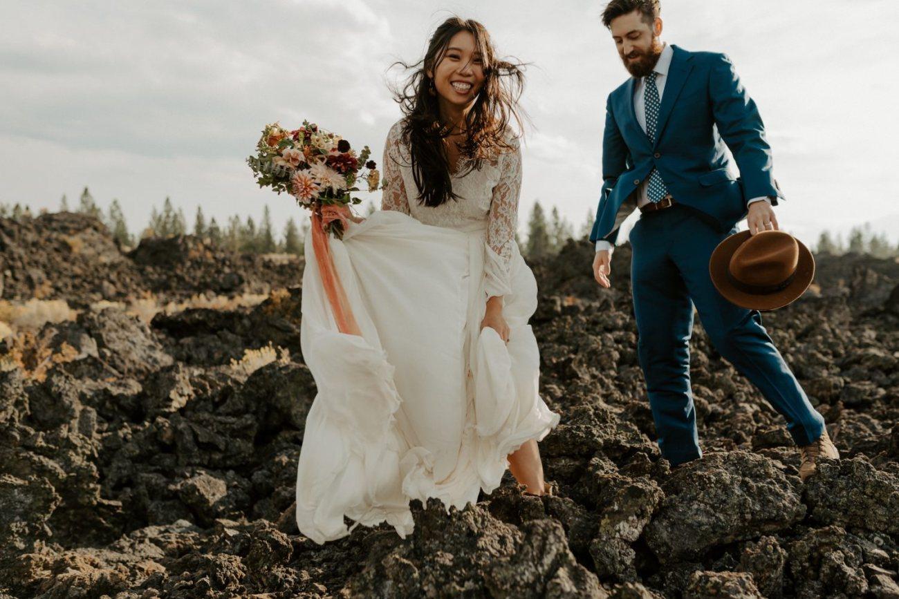 Newberry Volcano Elopement Bend Elopement Bridal Session Bend Wedding Photographer Anais Possamai Photography 009