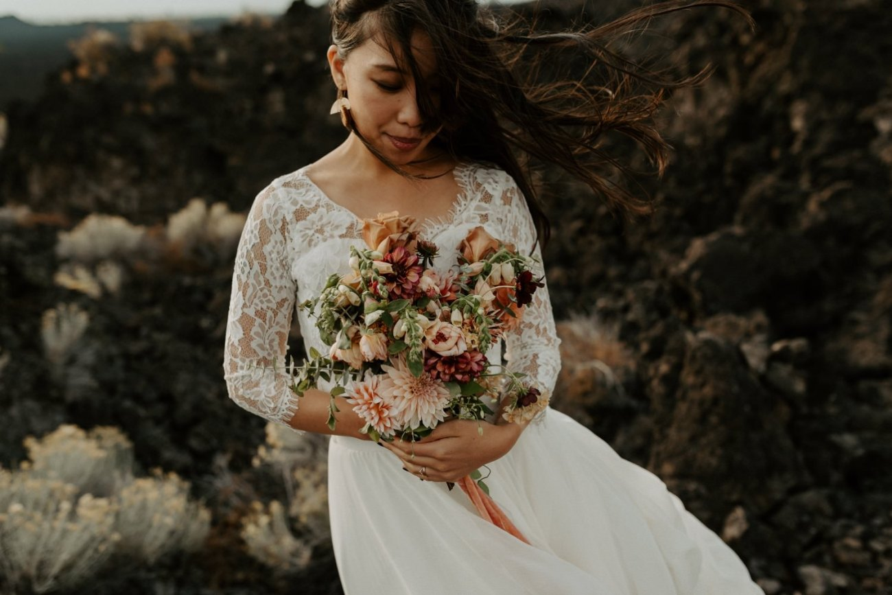 Newberry Volcano Elopement Bend Elopement Bridal Session Bend Wedding Photographer Anais Possamai Photography 028