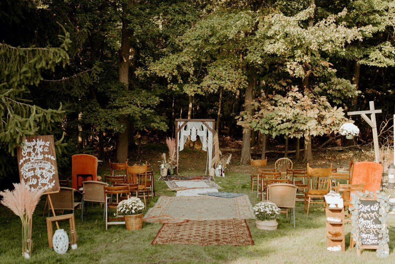 Vintage Boho Diy Backyard Wedding In New Jersey Anais Possamai Photography 062