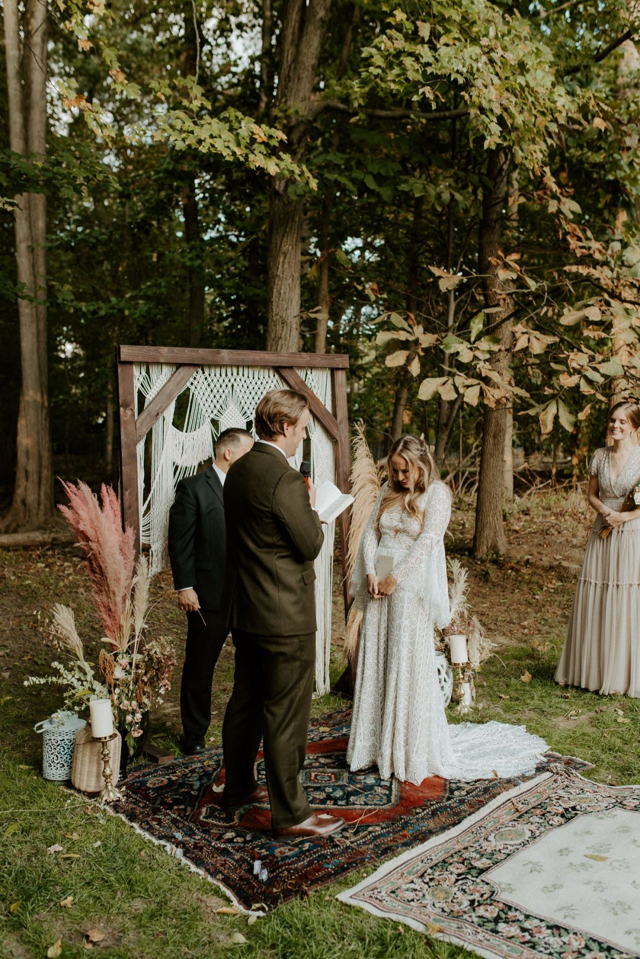 Vintage Boho Diy Backyard Wedding In New Jersey Anais Possamai Photography 073