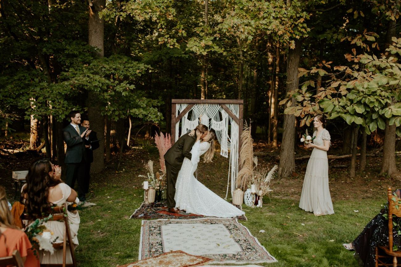 Vintage Boho Diy Backyard Wedding In New Jersey Anais Possamai Photography 076