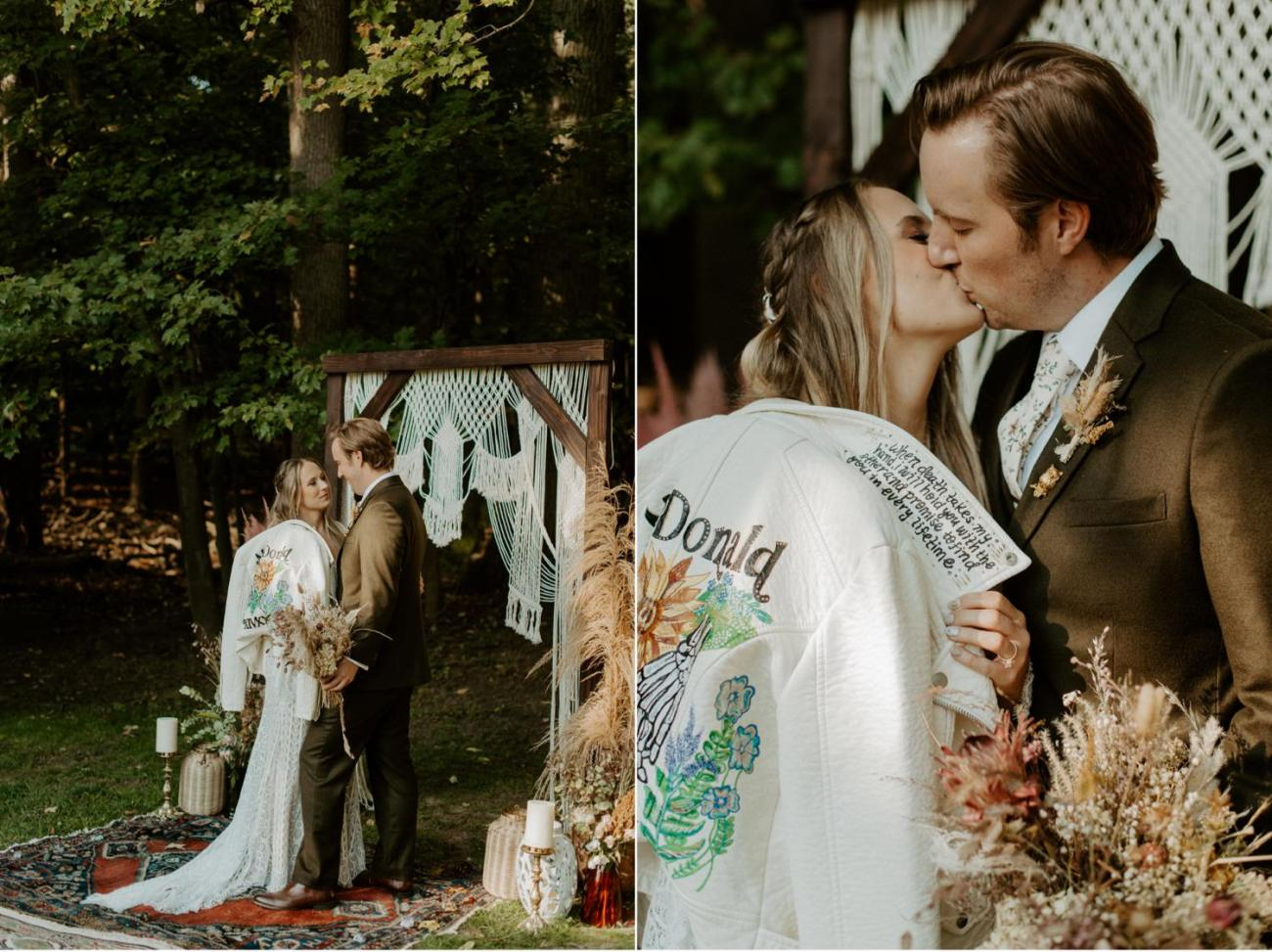 Vintage Boho Diy Backyard Wedding In New Jersey Anais Possamai Photography 090