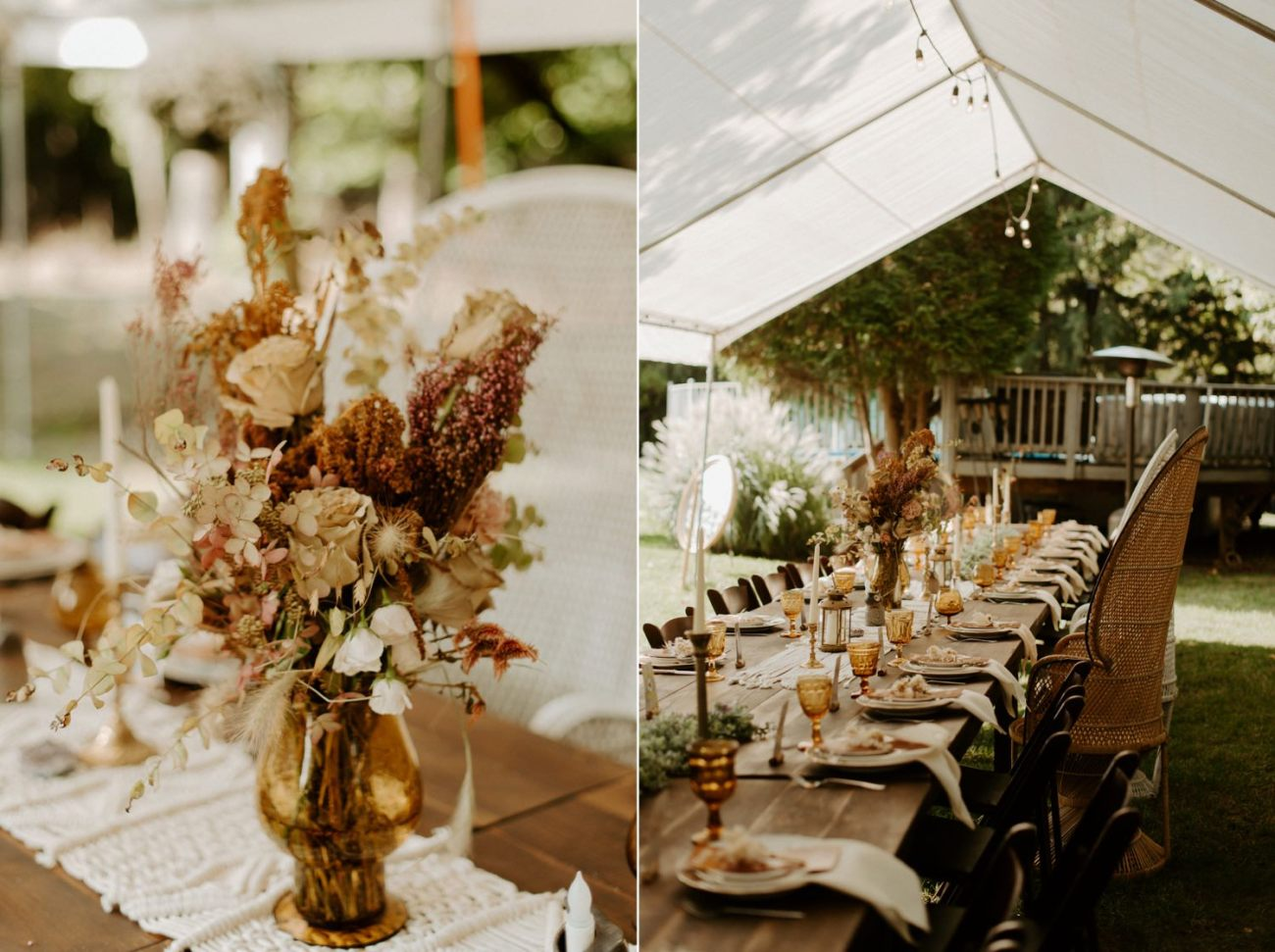Vintage Boho Diy Backyard Wedding In New Jersey Anais Possamai Photography 107