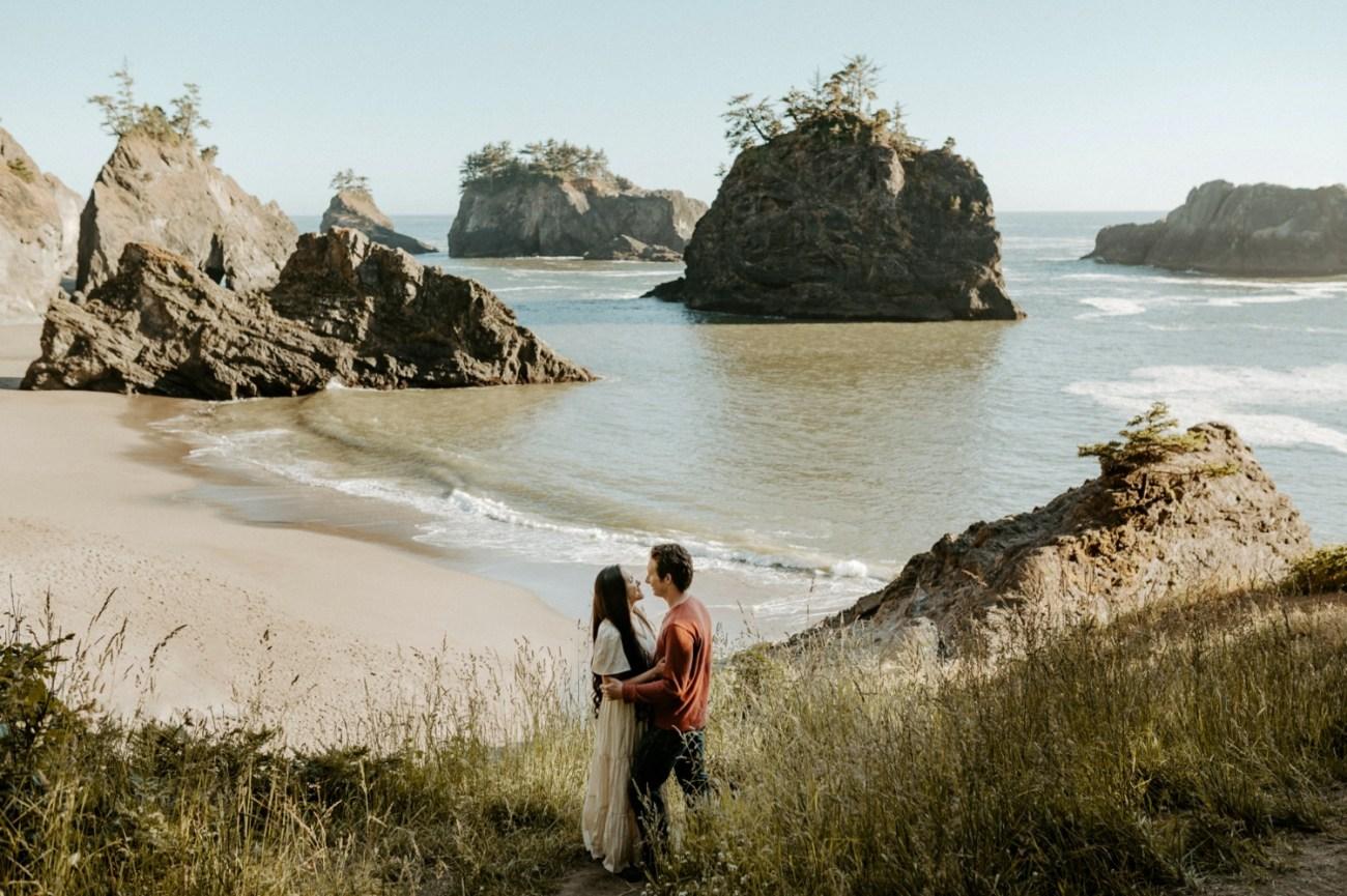 Oregon Coast Brookings Engagement Session Anais Possamai Photography 01