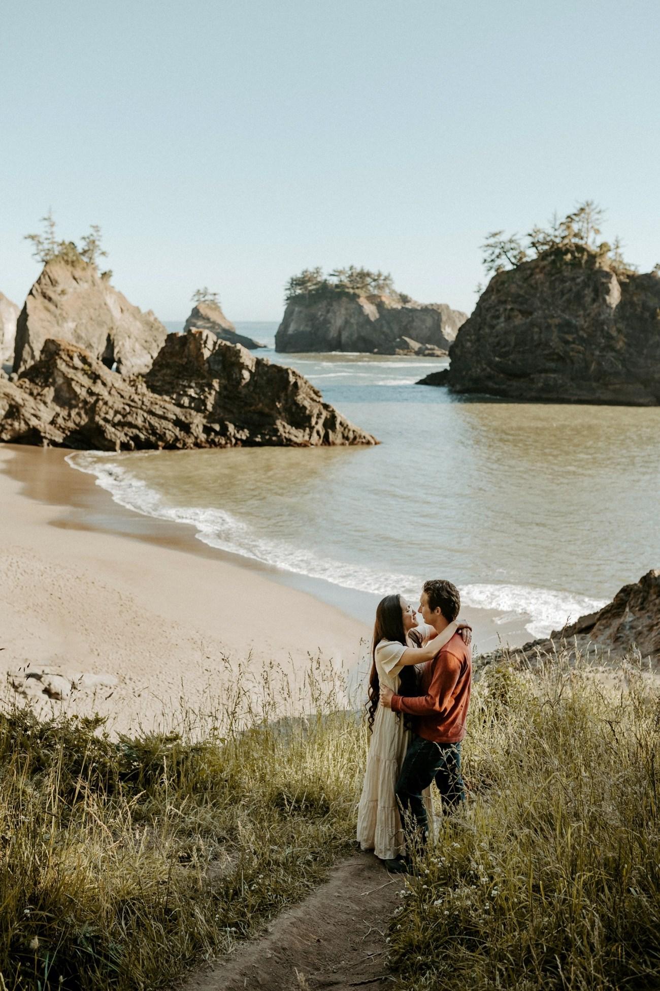 Oregon Coast Brookings Engagement Session Anais Possamai Photography 03