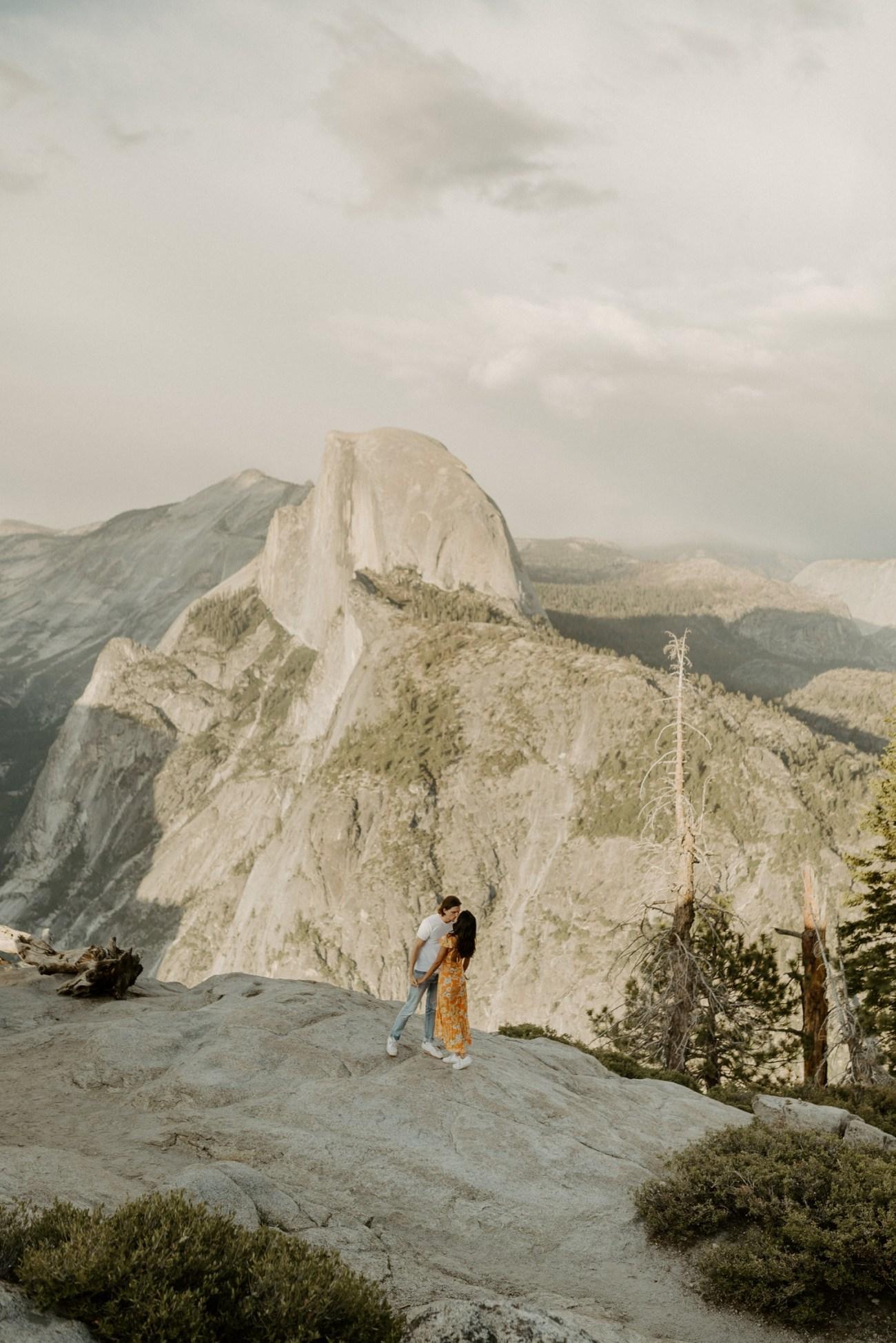 Sunset Yosemite Glacier Point Engagement Session Anais Possamai Photography 05