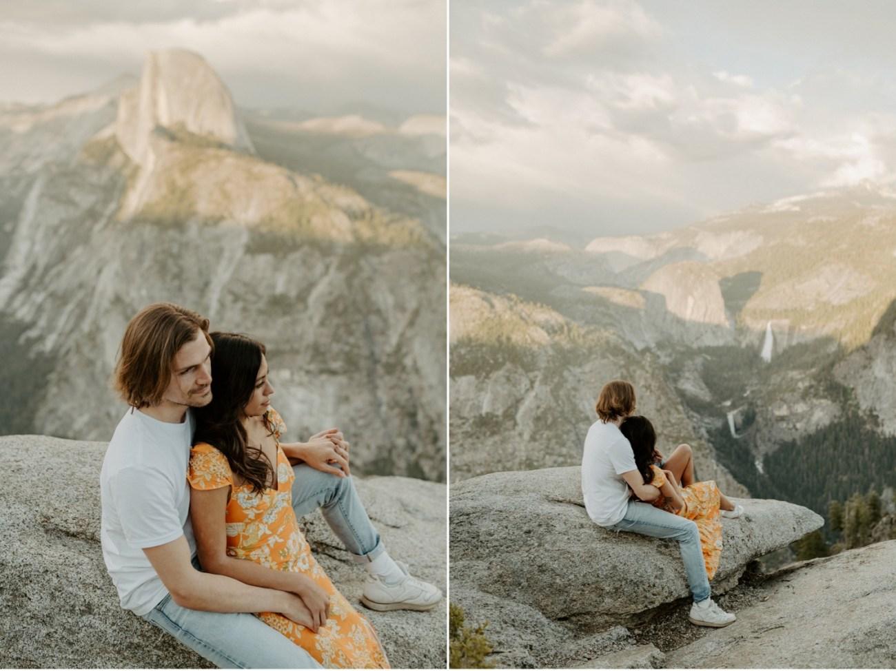 Sunset Yosemite Glacier Point Engagement Session Anais Possamai Photography 22