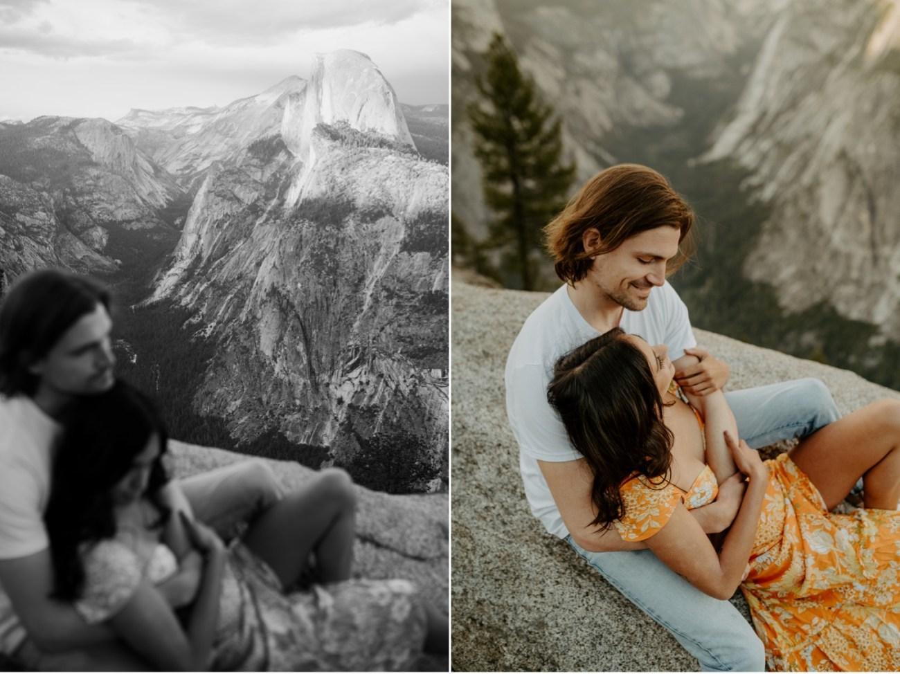 Sunset Yosemite Glacier Point Engagement Session Anais Possamai Photography 24