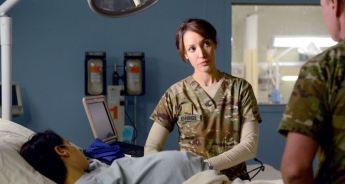 """THE NIGHT SHIFT -- """"The Thing With Feathers"""" Episode 302 -- Pictured: Jennifer Beals as Syd Jennings -- (Photo by: Ursula Coyote/NBC)"""
