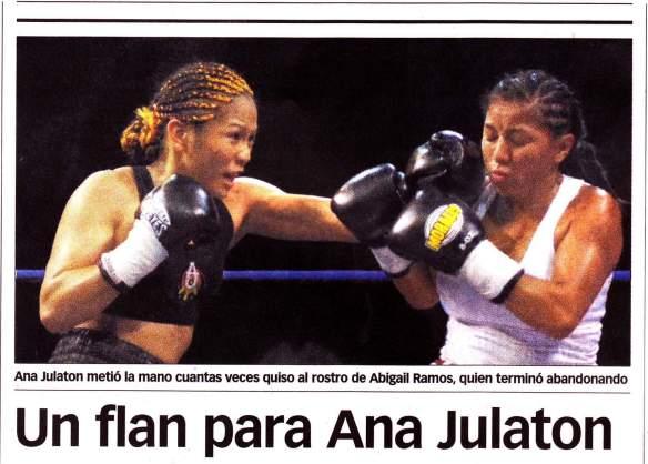 Un flan para Ana Julaton