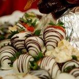 Chocolate coated strawberries in Merida