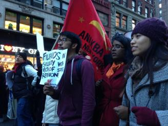 At Millions March Against Police Brutality in NYC, December 2014