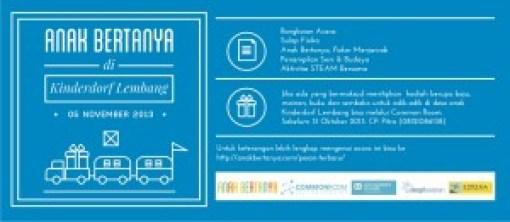 poster kinderdorf lembang 10102013