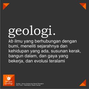 arti geologi