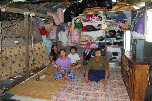 This is the space where the family of 9 rests, eats, and sleeps