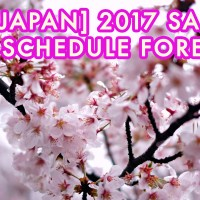 [Japan] CHERRY BLOSSOM (SAKURA) 2017 SCHEDULE FORECAST