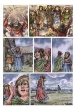 Saga d'Elin, planche 3, aquarelle