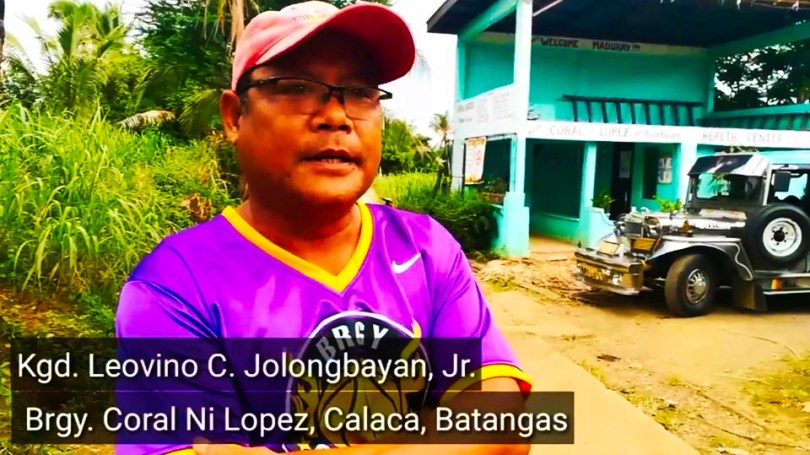 Leovino Julongbayan, Councilor of Barangay Coral ni Lopez, Calaca, Batangas, among arrested by police and military. Photo by Southern Exposure.