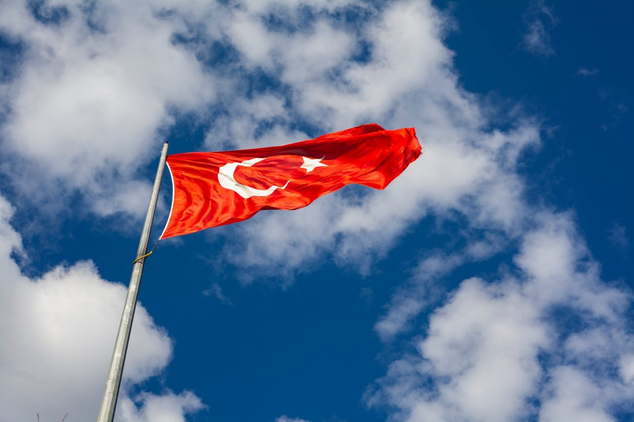 low angle photo of flag of turkey