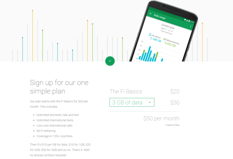Google Project Fi - simple plan  - Analie Cruz