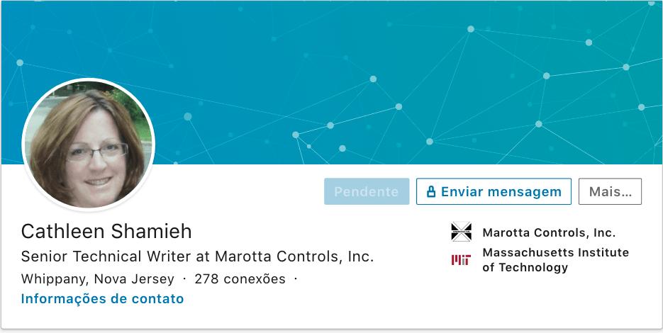Cathleen Shamieh Cathleen tem uma conta Senior Technical Writer at Marotta Controls, Inc.