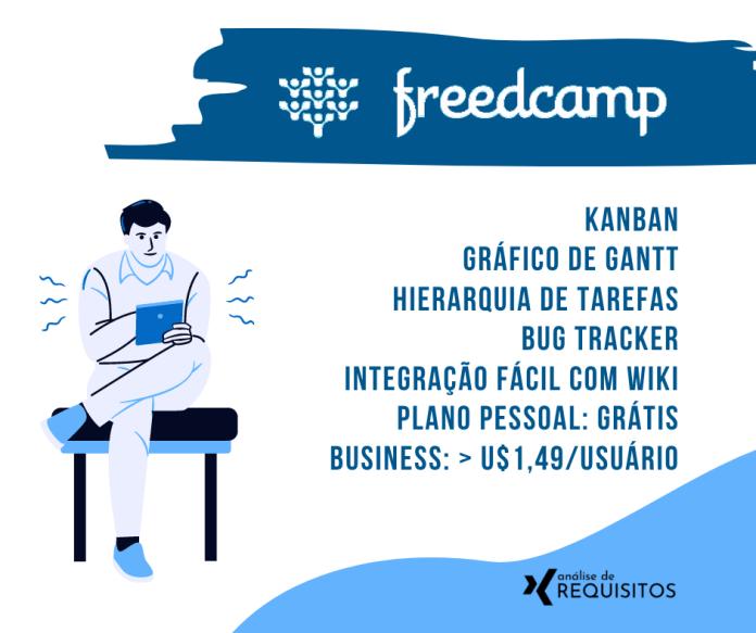 FreeCamp é uma alternativa gratuita e versátil para o gerenciamento de projetos de qualquer tamanho e tipo, seja um projeto de desenvolvimento de software ou de construção de uma ponte.