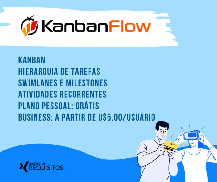 KanbanFlow: Oferece a combinação de recursos como Kanban, registro de horas e alocação de recursos.