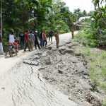 Bupati Aceh Timur  Segera Rehab Jalan Rusak 25 Meter Rusak Akibat Dikikis Air Hujan