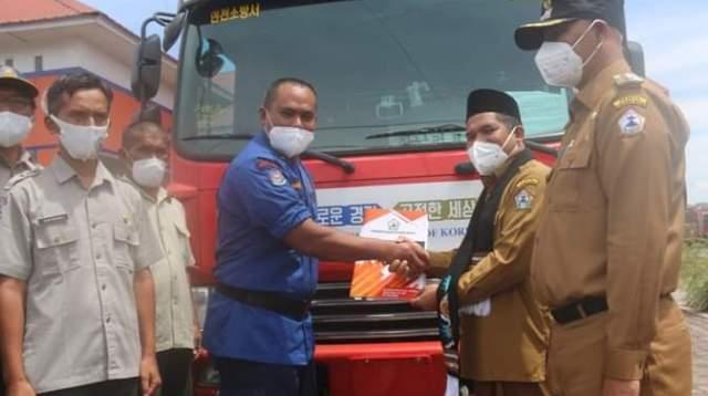 Mobil Damkar Bantuan Kemendagri Diterima BPBD Bener Meriah