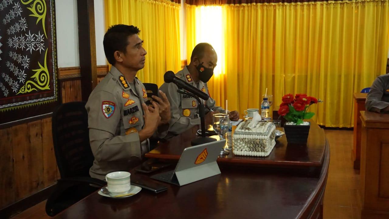 Irwasda Polda Aceh Beri Arahan Tentang Audit Kinerja Tahun 2021 Di Polres Bener Meriah