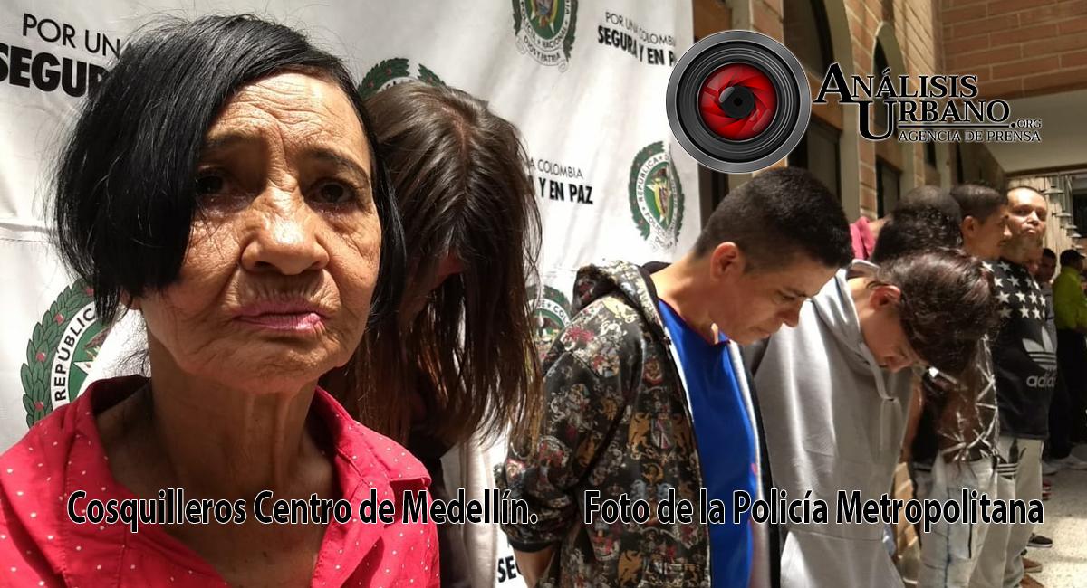 Capturados 34 presuntos escaperos en el Centro de Medellín, dedicados al hurto mediante cosquilleo