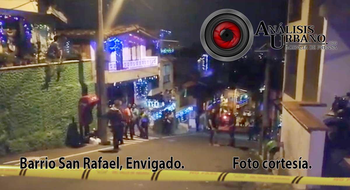 Diego Andrés Vanegas y Diego Alejandro Vanegas fueron baleados en San Rafael, Envigado
