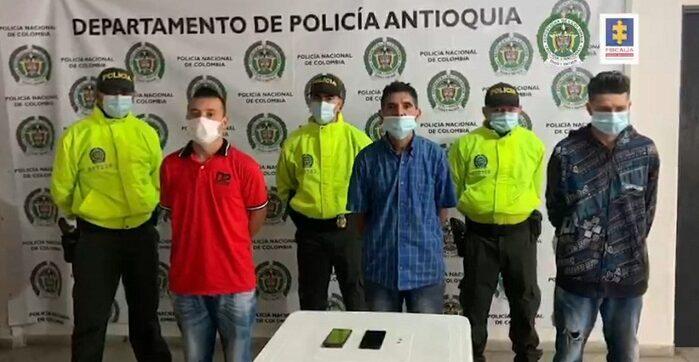 os tres procesados fueron capturados en un operativo coordinado por un fiscal de la Unidad de Vida, adelantado por la Sijin de la Policía Nacional.