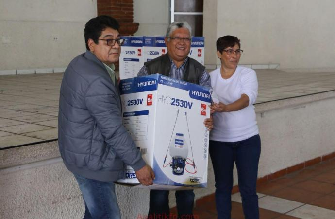 Entrega Sedarpa equipo fitosanitario a cañeros