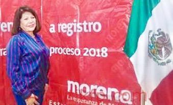 Carmen Mora se regritró como candidata a Diputada Federal en el Distrito  9 con cabecera en Coatepec por Morena