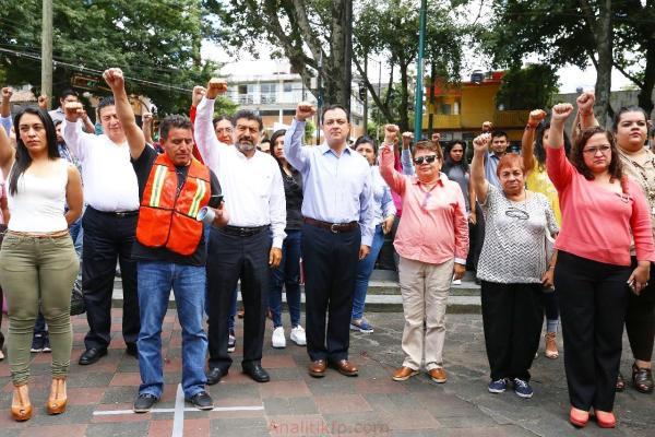 Realiza PRI estatal, simulacro en conmemoración de sismos de 1985 y 2017