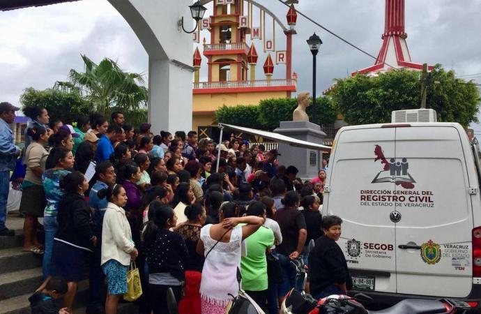 Casi 3 mil trámites en Jornada Itinerante del Registro Civil