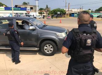 Elementos de la SSP, Policía naval y municipal refuerzan Operativo Coatza Seguro