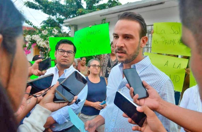 Respalda Diputado JM Unánue a vecinos de Boca del Río para evitar cierre de Centro de Salud