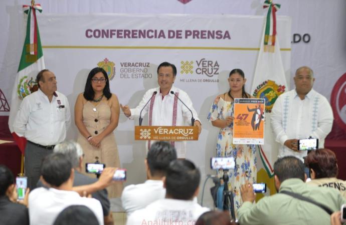 Presenta el gobernador Cuitláhuac García, el Festival Internacional Cervantino, en Poza Rica
