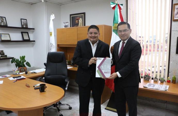 TEV entrega su informe de actividades 2018-2019 al Congreso del Estado de Veracruz